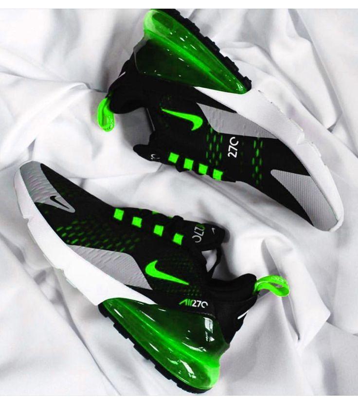 Nike Mens Nike Air Max 270 Black Volt Oil Grey AH8050 017