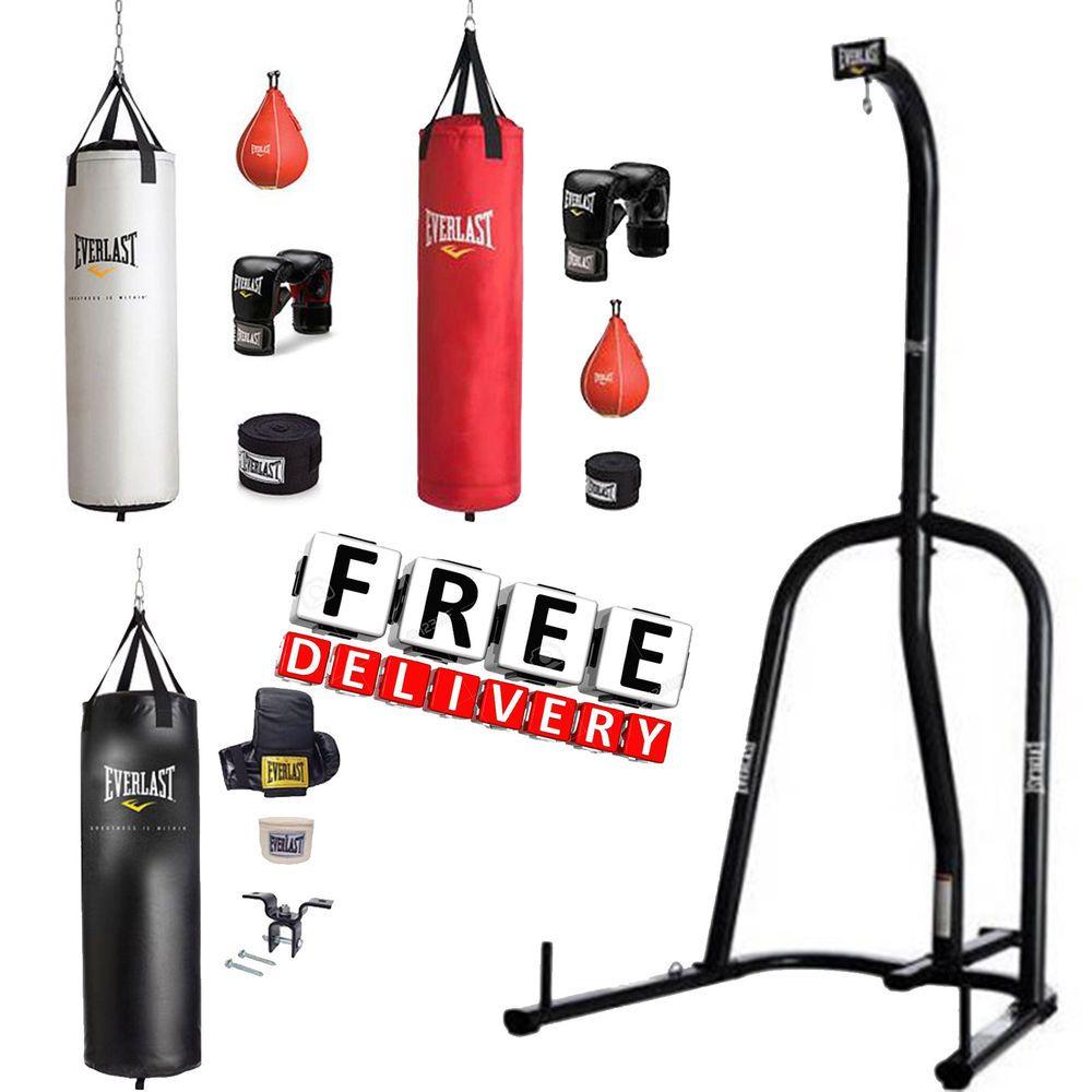 Boxing Equipment Free Stand Punching Heavy Bag Everlast MMA Kick Training 100 lb