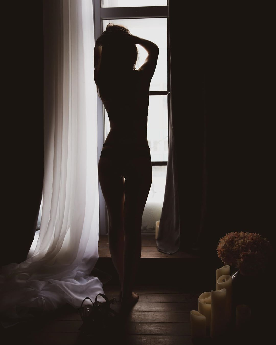 "Photo of Mihaela on Instagram: ""#canon #silhouette #girl #woman #body #hot #fire #black #shadows #light #window #romantic #sexy #atmosphere"""