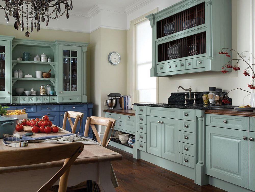 elige los colores para una cocina vintage