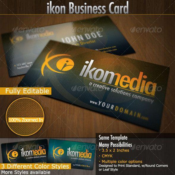 Ikon Media Business Cards Media Business Cards Business Card Photoshop Cleaning Business Cards