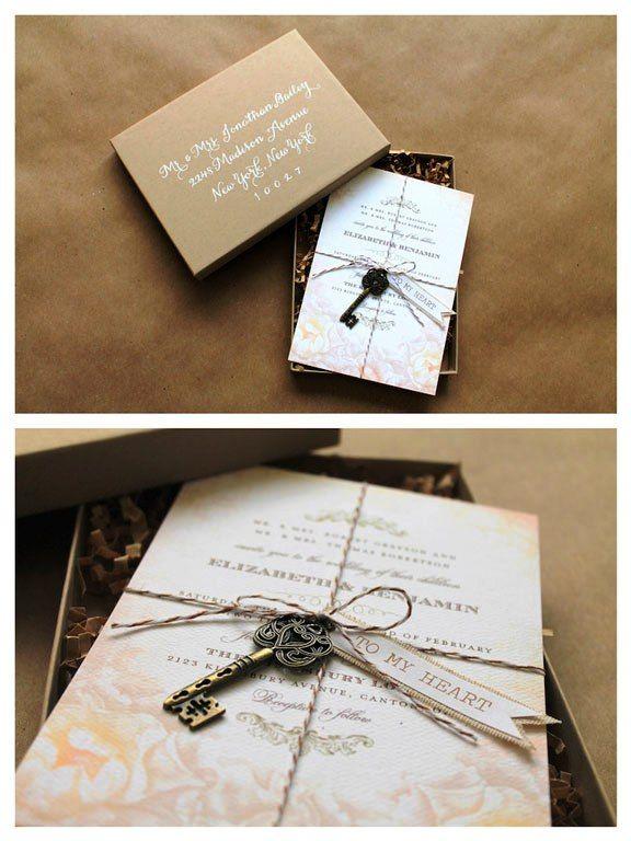 30 Box Wedding Invitations Ideas   Box wedding invitations ...