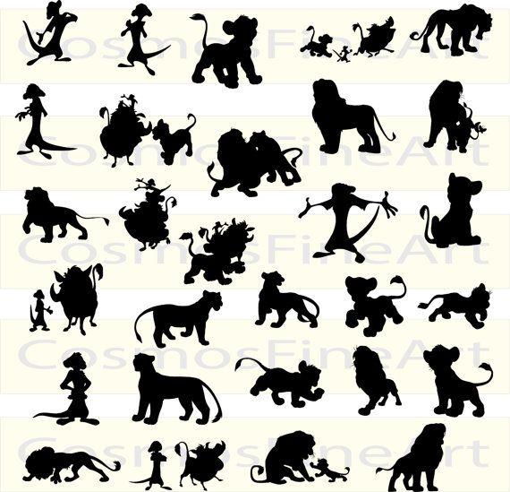 Lion King Silhouette Digital Clipart 29 Png 29 Jpg Instant Download Rei Leao Guarda Do Leao Desenhos