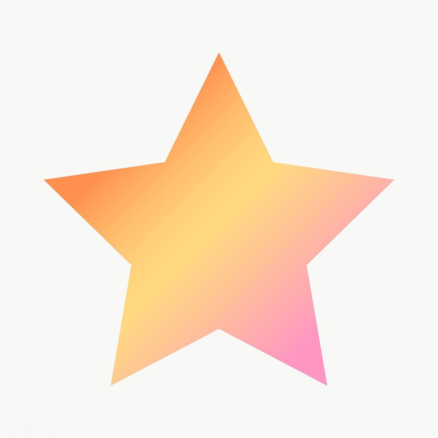 Orange Gradient Star Geometric Shape Transparent Png Free Image By Rawpixel Com Ningzk V Geometric Star Geometric Shapes Printable Designs
