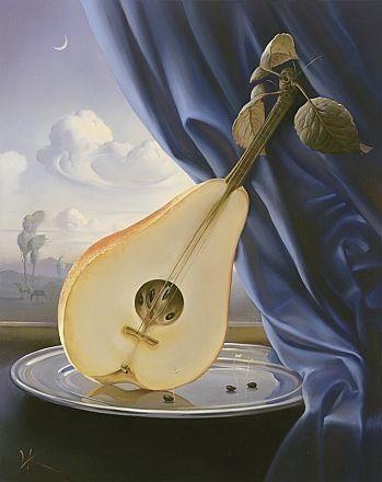 """Naturaleza muerta con mandolina"" - Vladimir Kush"