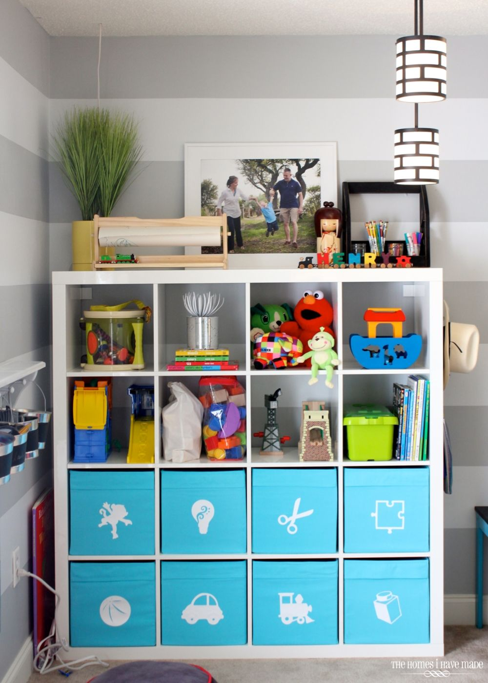 Design Playroom Storage toy storage in an ikea expedit playrooms and the playroom with pictures so they know where to put toys before they