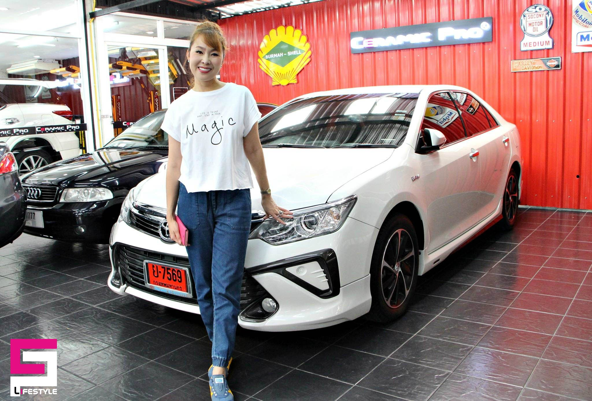 The Lovely Car Owner And Her Amazing Ceramic Pro Protected Toyota Are Ready For A Road Photo By Ceramic Pro Thailand Lovely Car Car Toyota