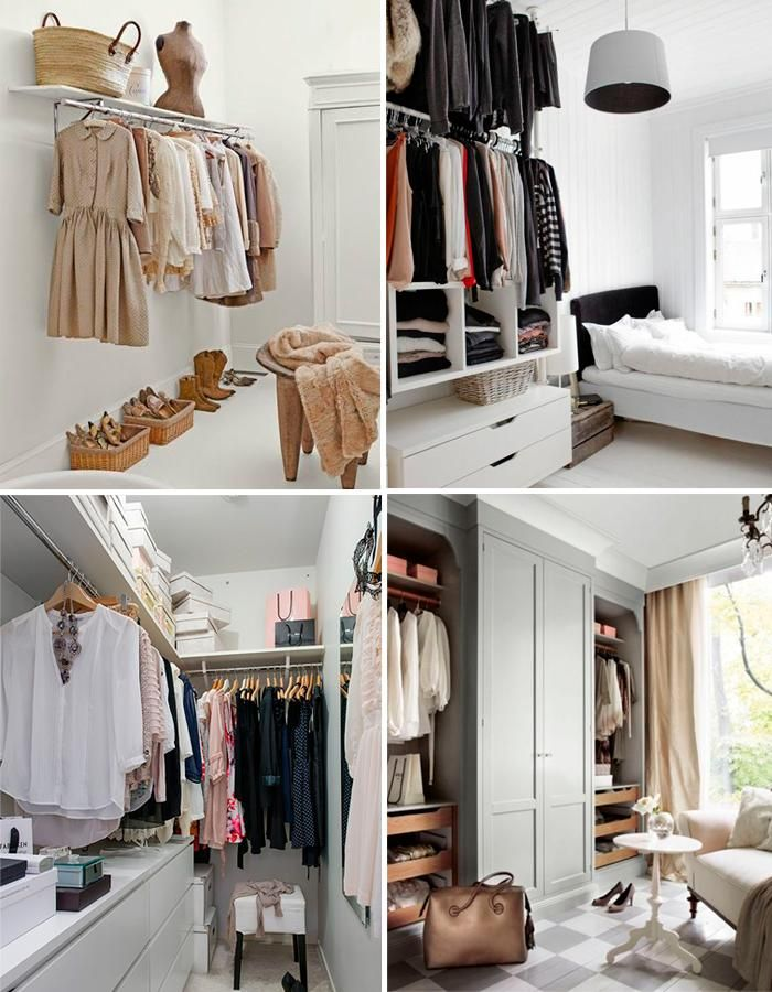 Armarios Abiertos Para Espacios Pequenos Closet Decor No Closet Solutions Walk In Closet