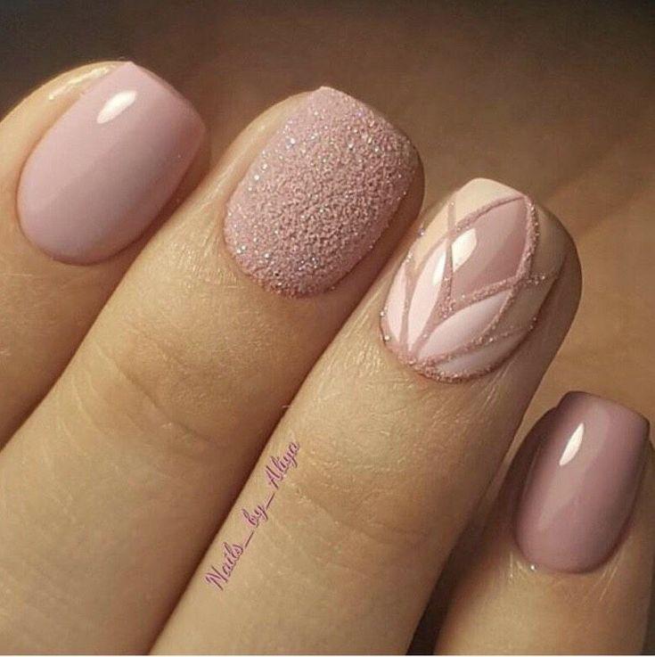 Pale Pink Nail Design Pale Pink Nails Pink Nails Nail Designs
