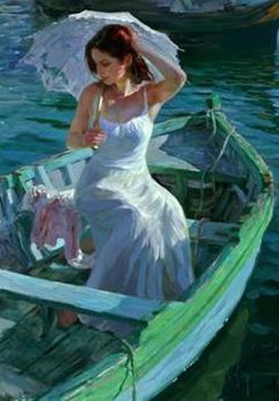Rp Be Whoever I Climb Into The Boat With My Parasol And Wait To Be