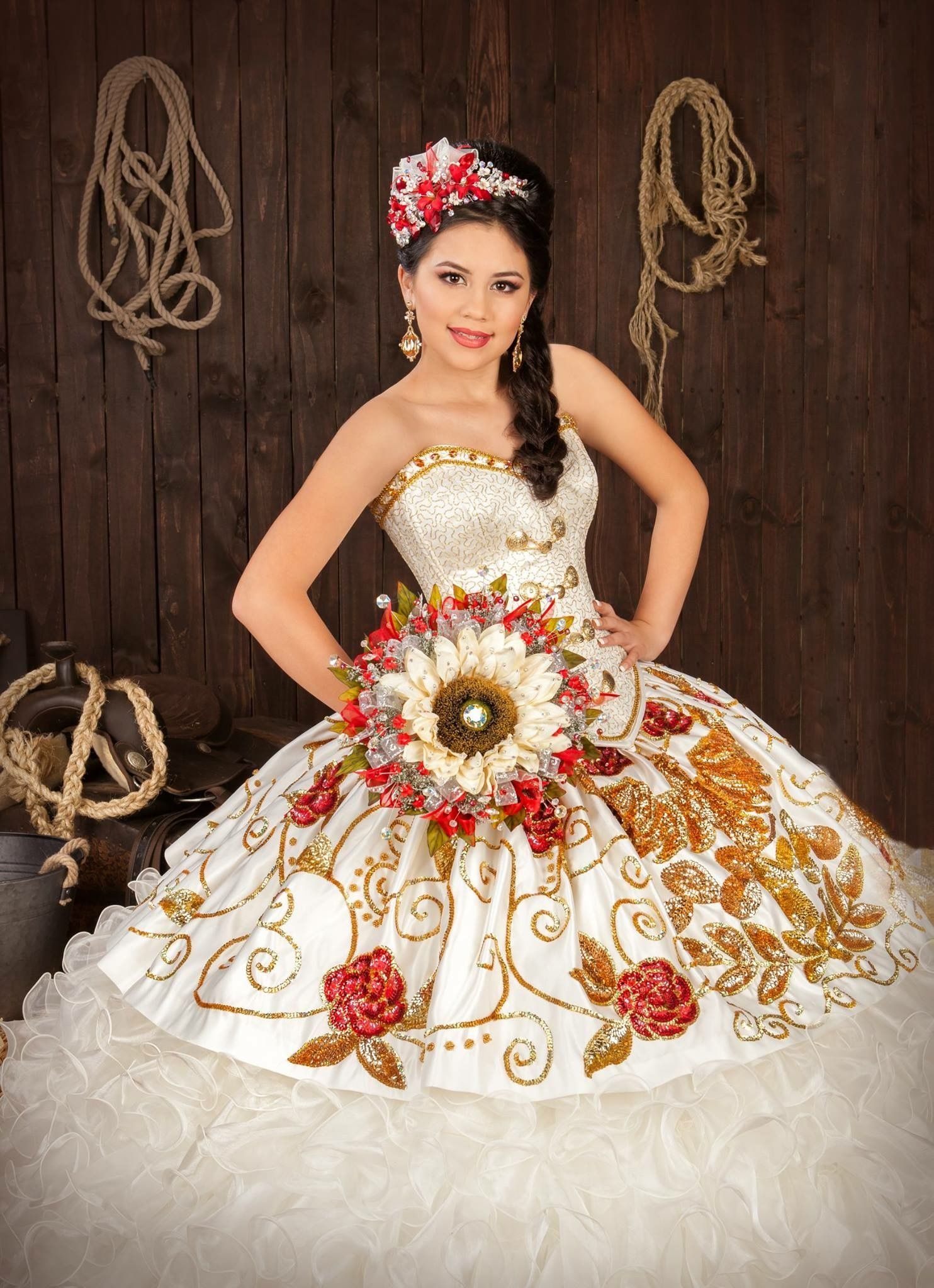 c92ed5daa1e Image result for champagne quinceanera dress charro