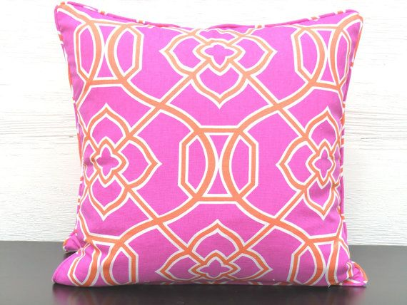 Hot Pink Pillow Case 18x18 Orange Couch Pillow Pink And