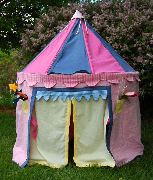 ikat bag Princess Pavillion Tent Rocket Ship pattern