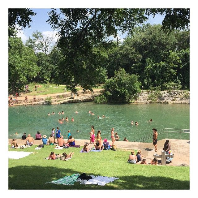 #tbt to our Barton Springs expedition the last time @zacharyloganhardy and were in Austin. Can't wait to take @skierkoda and my auntie Kathleen there this weekend! Amigas! Where else must I take them this weekend in #Austin?