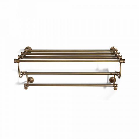 Wall Mounted Br Towel Rack Available In Antique Or Blackened Finishes
