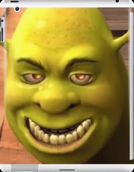Creepy Shrek Ipad Retina 3 2 Snap Case By Alexis M In 2021 Shrek Shrek Memes Mood Pics