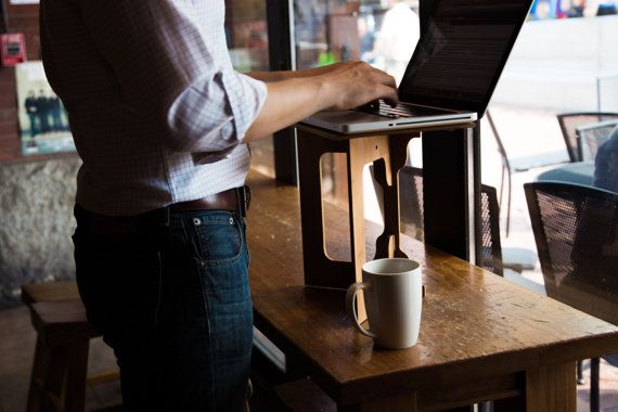 Bamboo StandStand: standing desk and laptop stand by StandStand