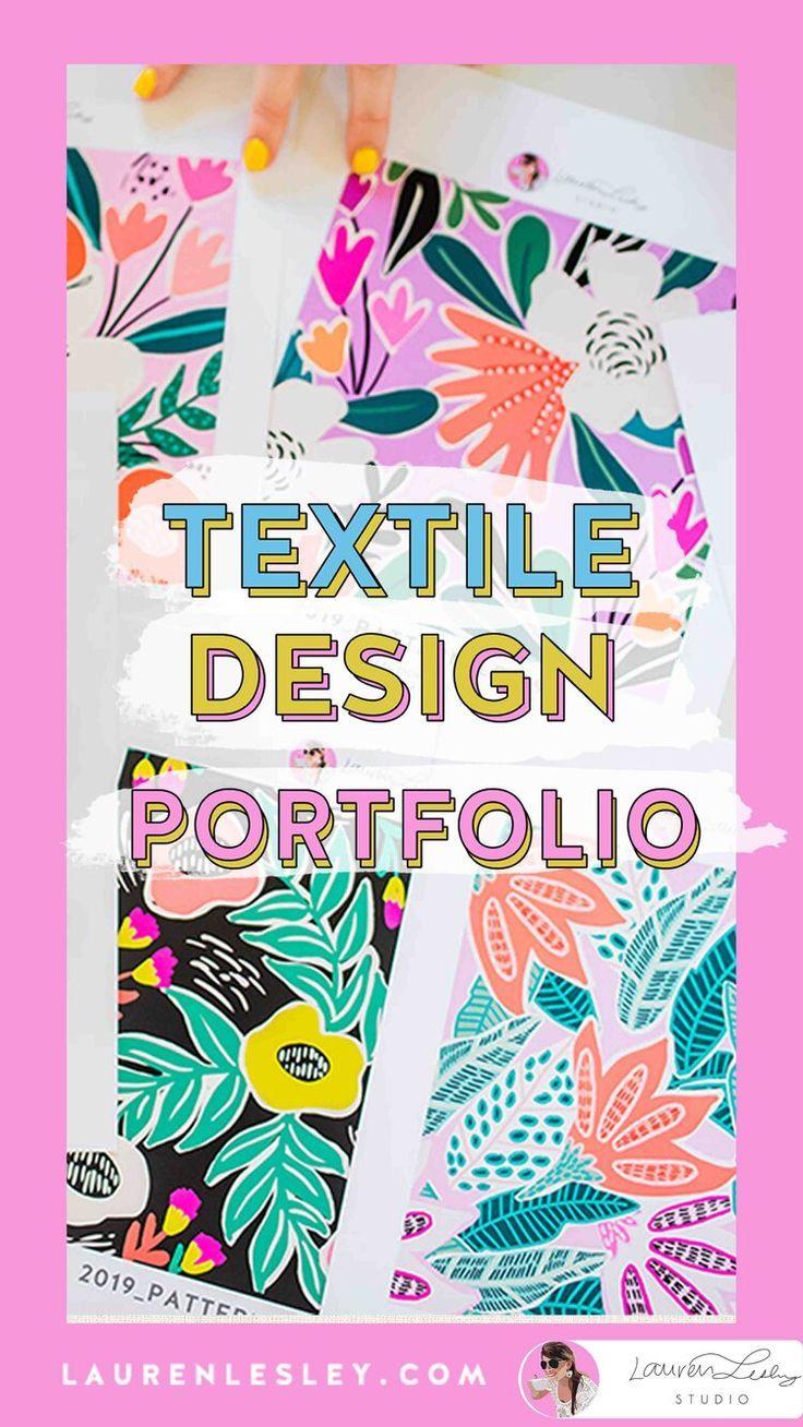 Textile Design Portfolio How To Build Your Textile Design Portfolio Lauren Lesley Textile Design Portfolio Print Portfolio Design Textile Design Sketchbook