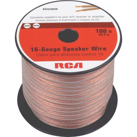 Best Speaker Wire >> Rca 16 Gauge Speaker Wire 100 Multicolor Products
