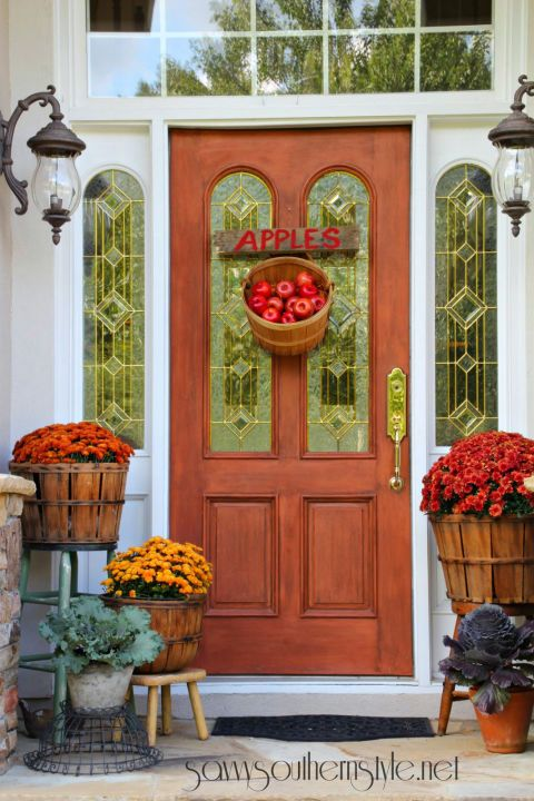Attractive Fall Front Porches