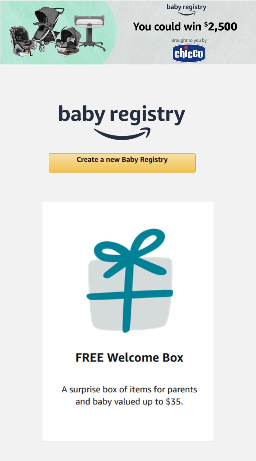 Register New Account Through Link And Get Awesome Offers For Parents And Baby Amazon Registry New Baby Products Cool Things To Buy