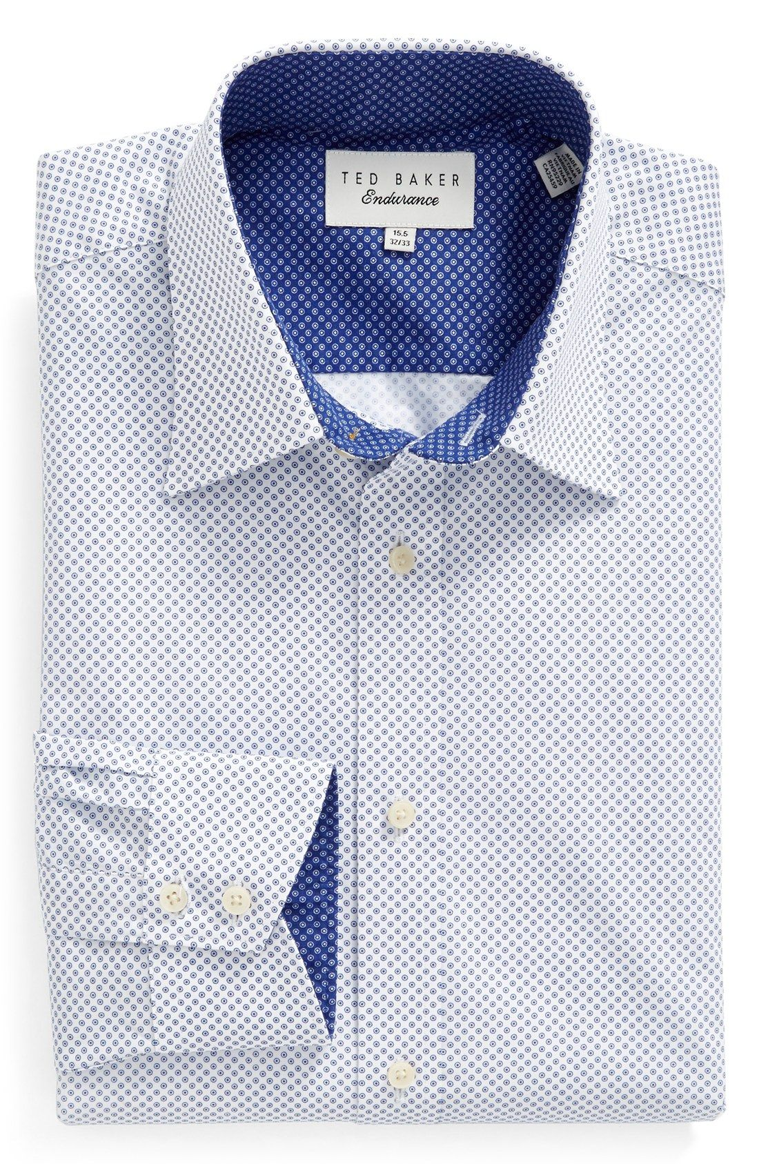 0796c5d15a43 Domani Blue Luxe Men's Black/ White Trim Button-down Dress Shirt (Medium)  (polyester) | Products | Black, white man, Button down dress, White trim