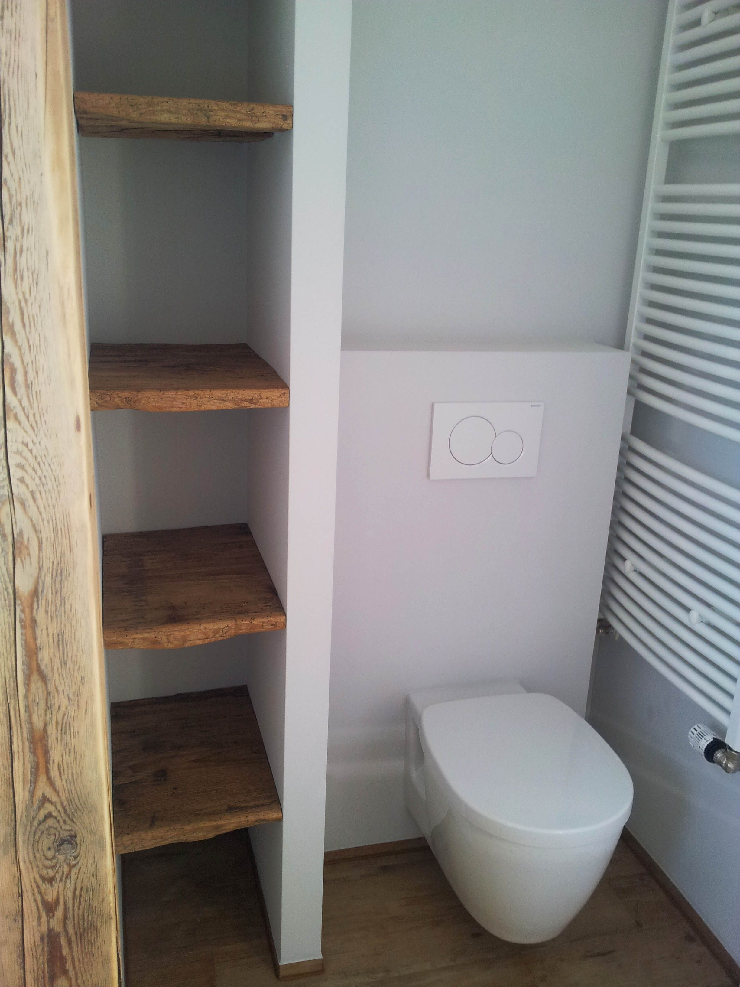 Bad Bathroom Holz Wc Toilette Badregal Badregale Regal Toilette
