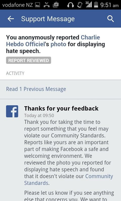 Despite being reported for hate speech Facebook doesn't see the racist cartoons…