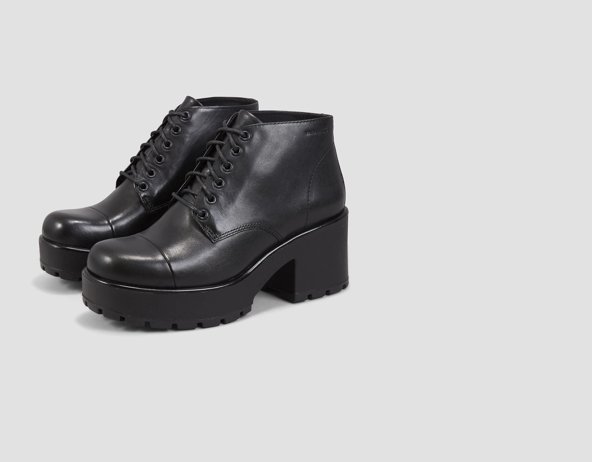 Vagabond DIOON | Boots, Lace up ankle boots, Black leather