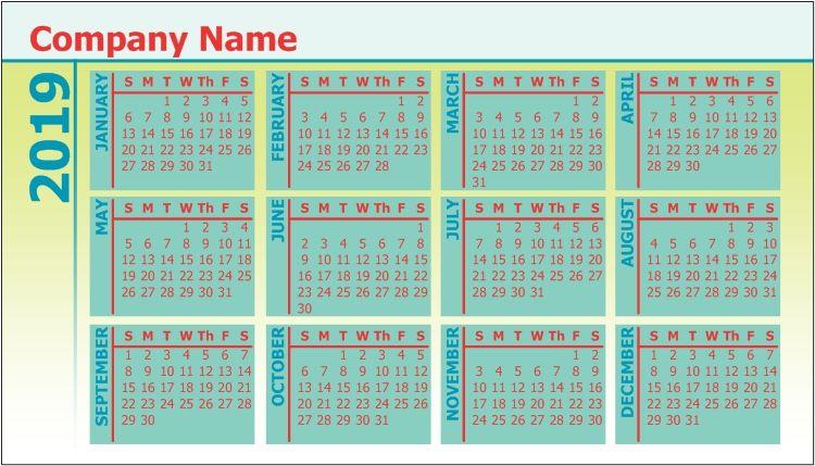Pocket Calendar Personalised Photo Calendar Custom Calendar