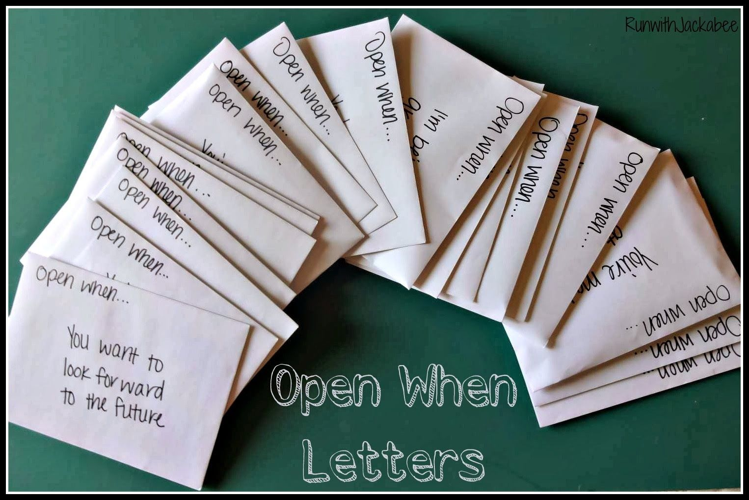 This Is A Really Great Example Of Open When Letters And What To