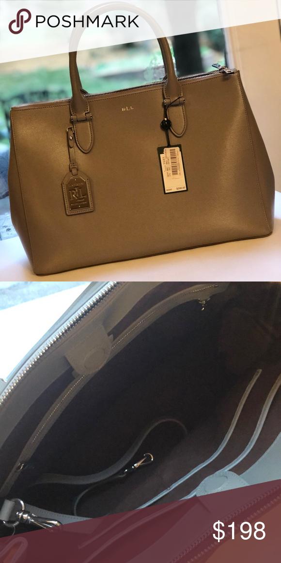 Ralph Lauren gray handbag BRAND NEW never worn! Tags still attached! Gray 332859038a939