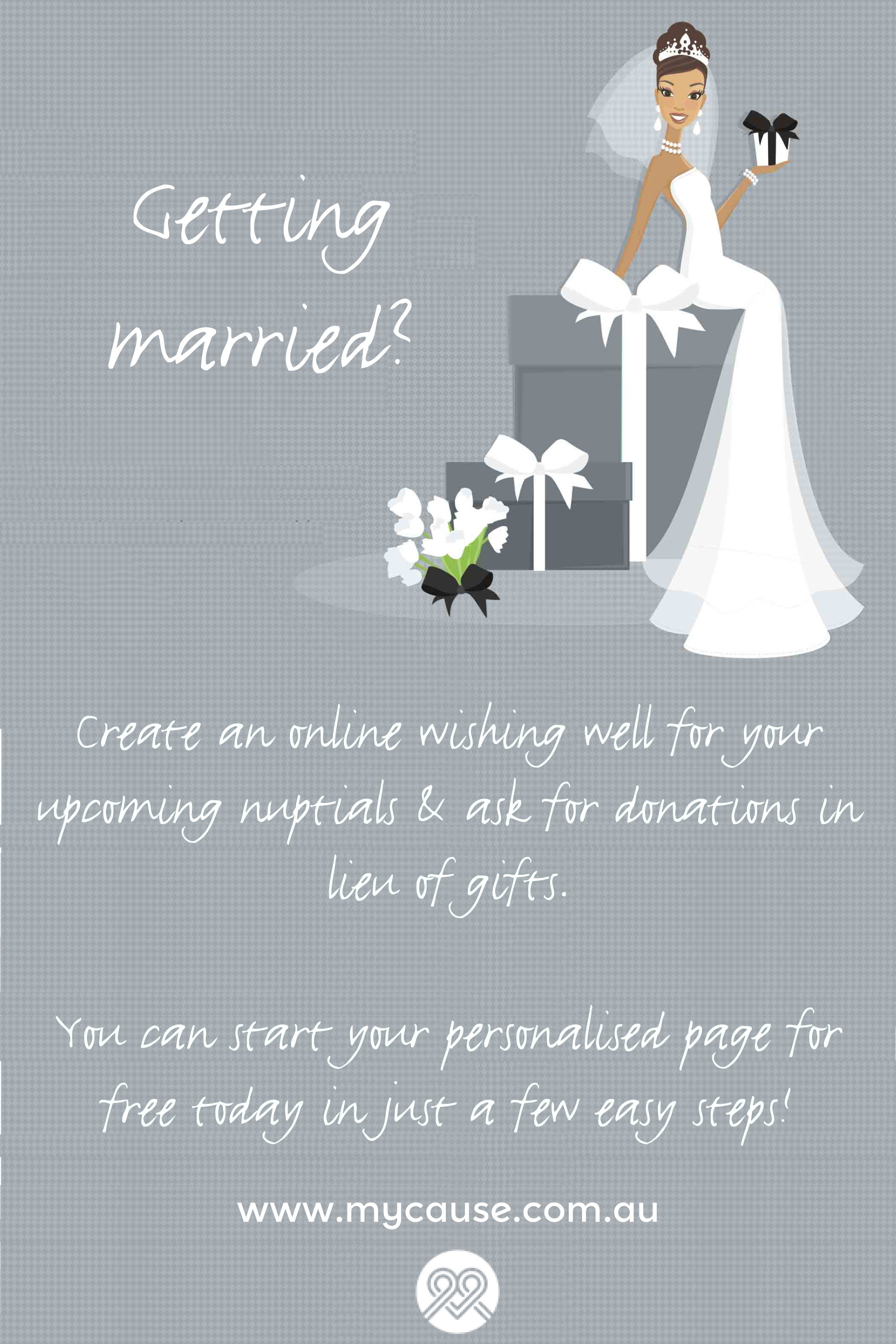 Create an online wishing well for your upcoming wedding