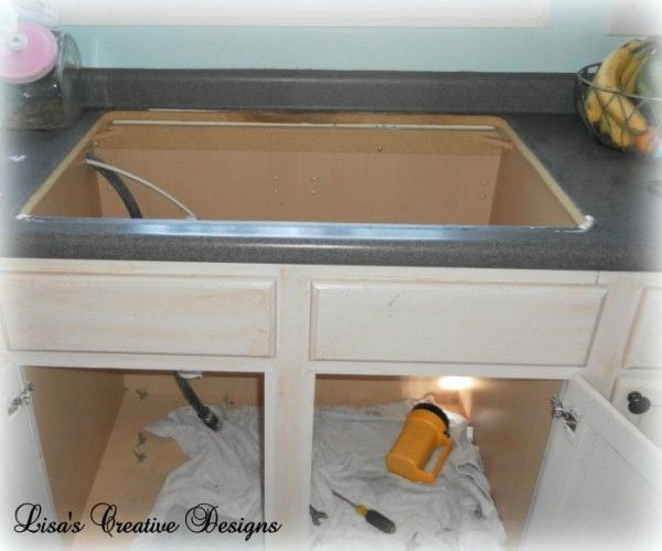 installing a   new   kitchen sink my farmhouse kitchen    installing a   new   kitchen sink   cast      rh   pinterest com