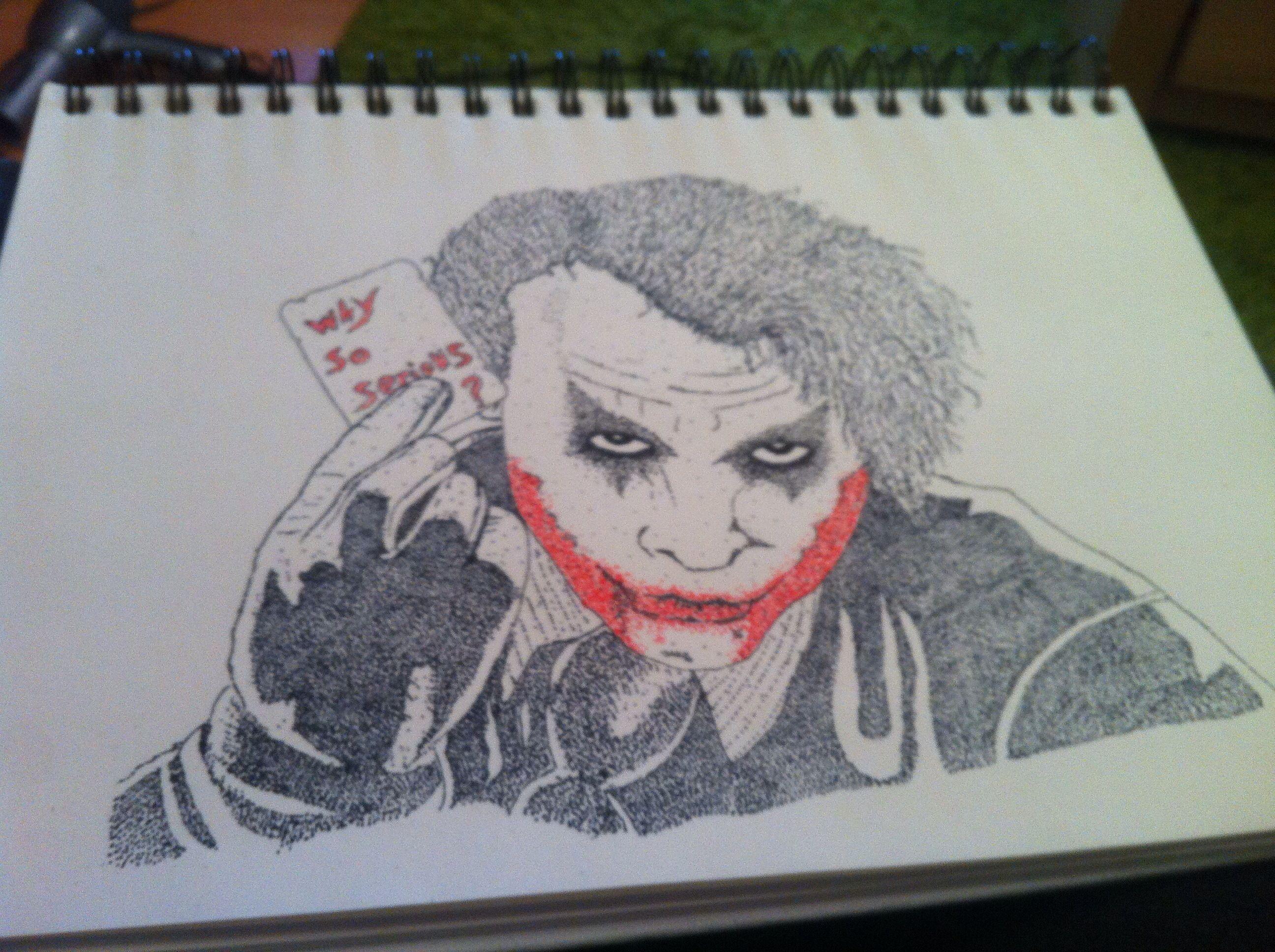 Joker Scribble Drawing : The joker piece by c jagger stippling art