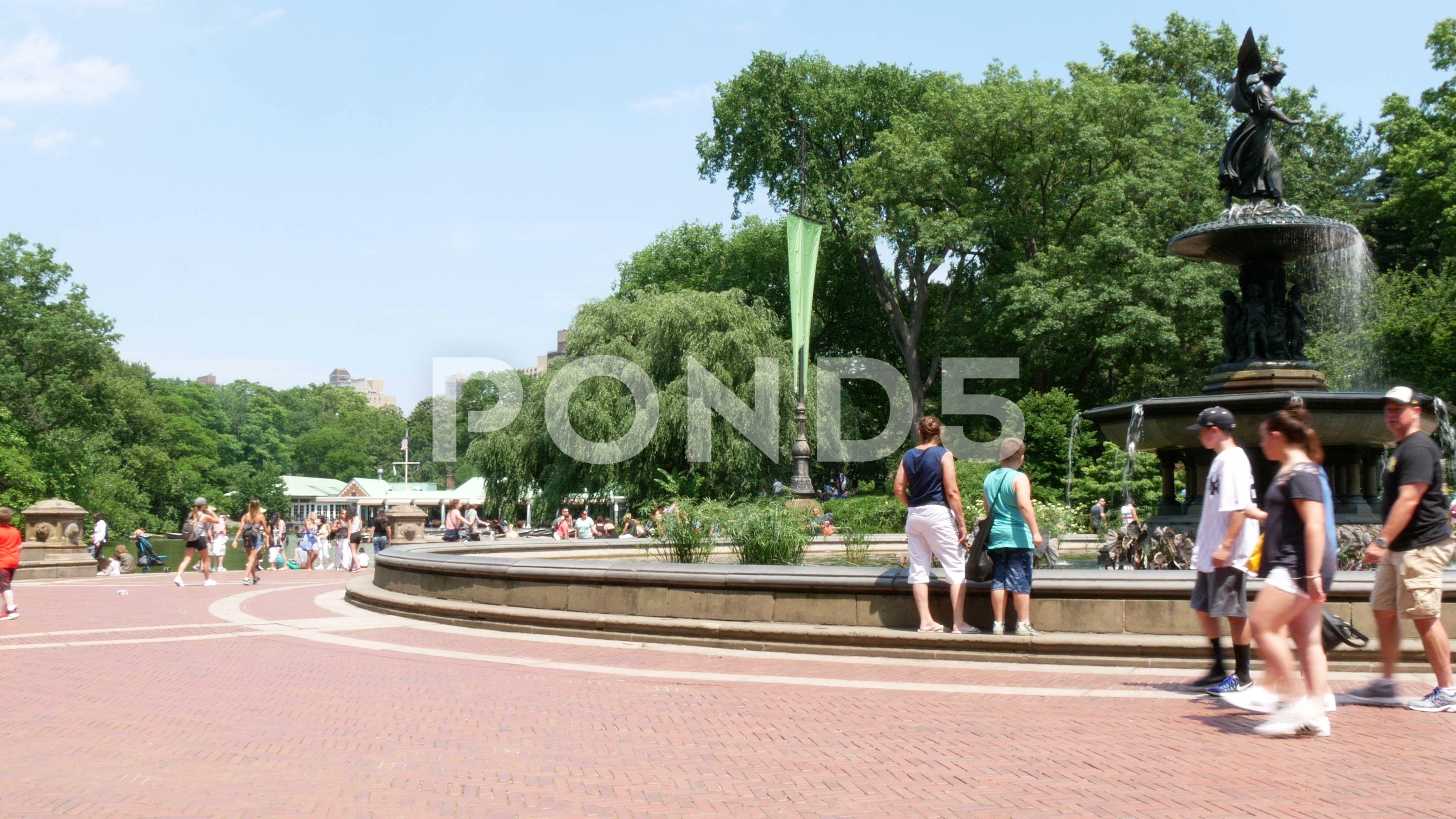 Bethesda fountain at Central Park, New York City Stock