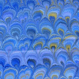 Il Papiro Florentine Marbleized Paper Blue Marble Paper Marbleized Paper Marblized Paper