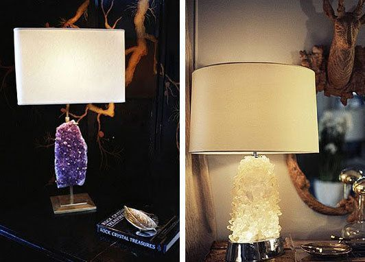 Geode And Rock Crystal Lamps