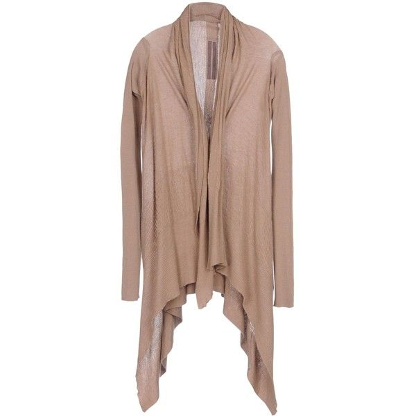 Rick Owens Cardigan ($501) ❤ liked on Polyvore featuring tops ...
