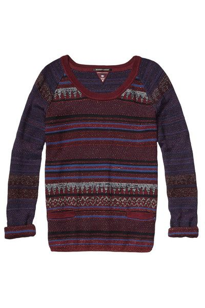 Roadtrip Clothing - Maison Scotch Beautiful Vision Sweater in Burgundy