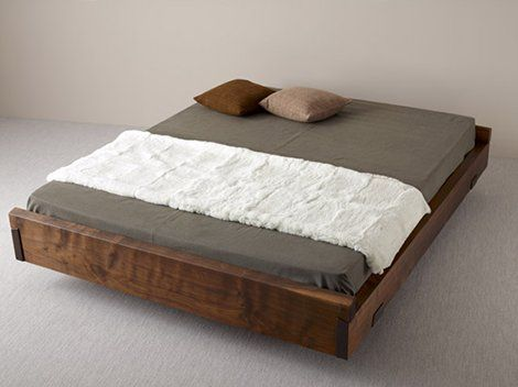 No Headboard Floating Bed Crazy Minimalist Wood Bed Design