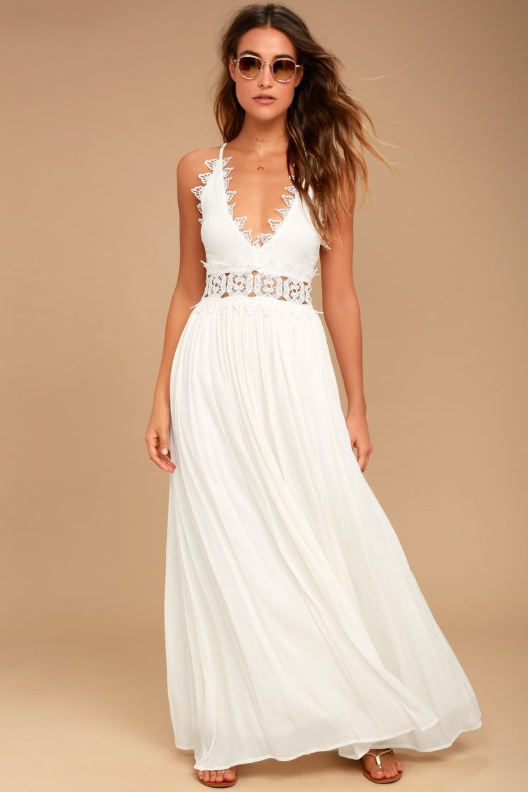 d9945a1bd6 Lulus | This is Love White Lace Maxi Dress | Size X-Small | 100 ...