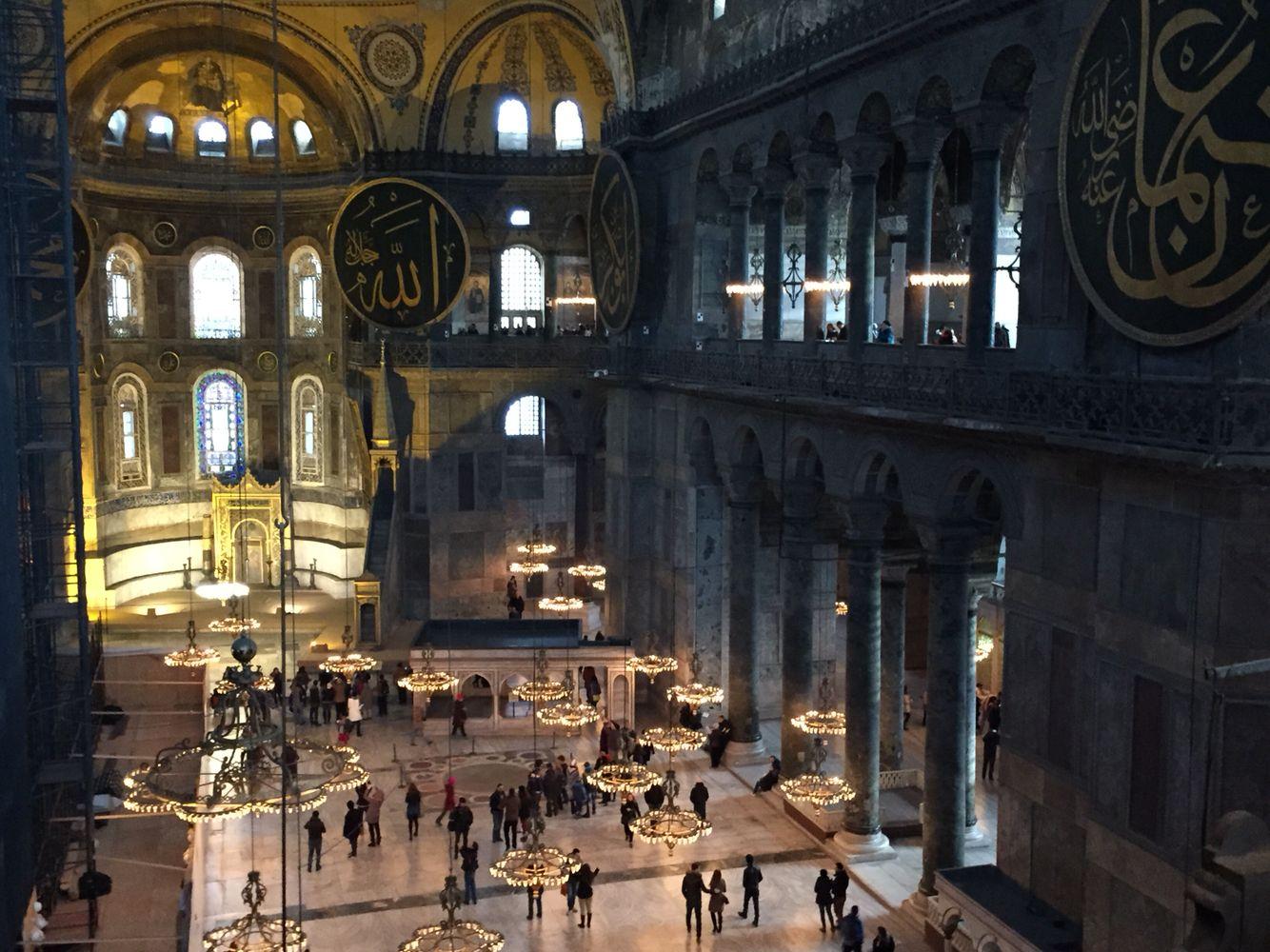 Santa Sofia (interno), Istanbul