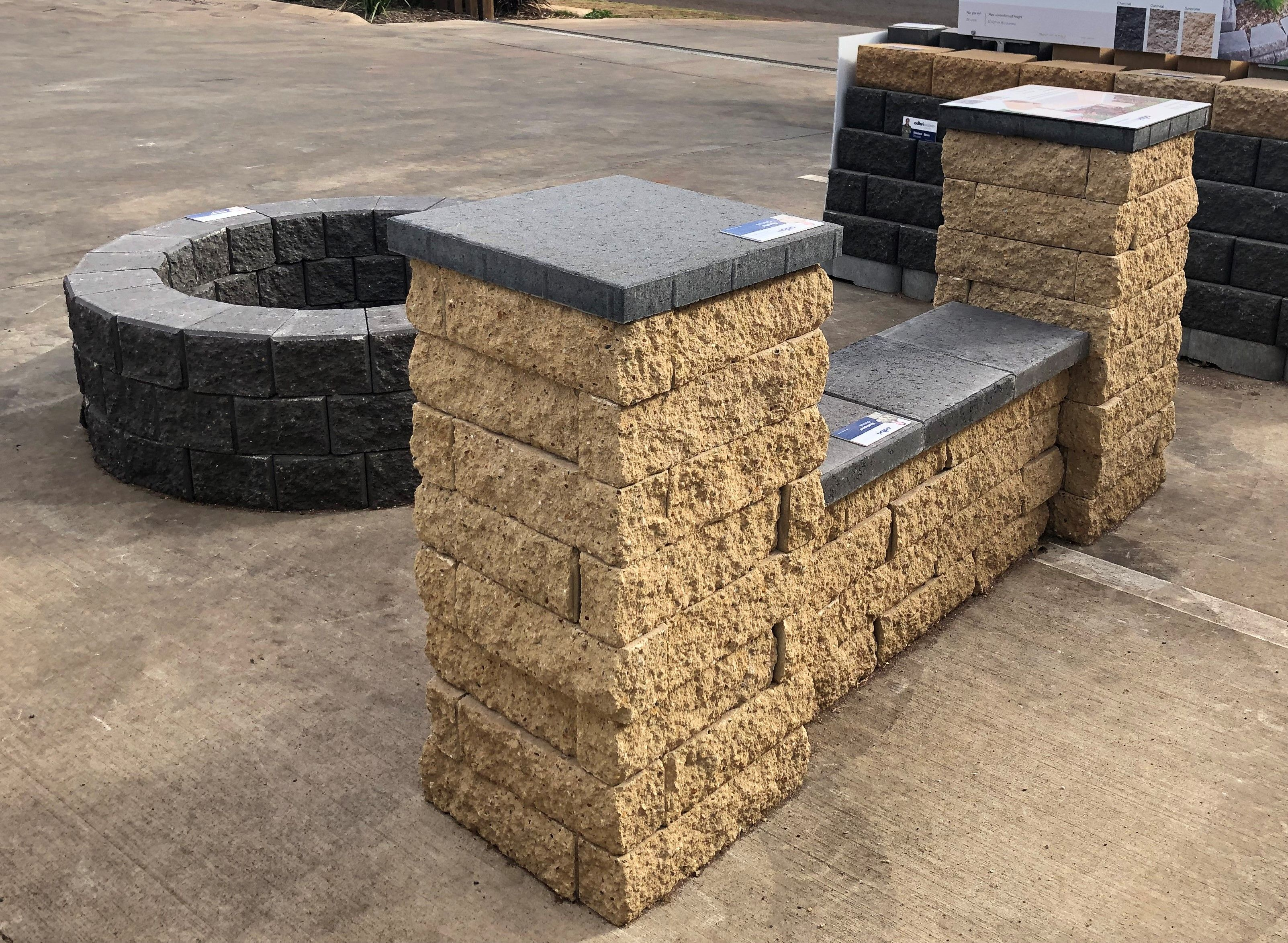 Build A Bench Seat In Your Backyard To Take Advantage Of The Winter Sun Diy Easy Use Retaining Wall Blocks And P Paver Landscaping Supplies Brick