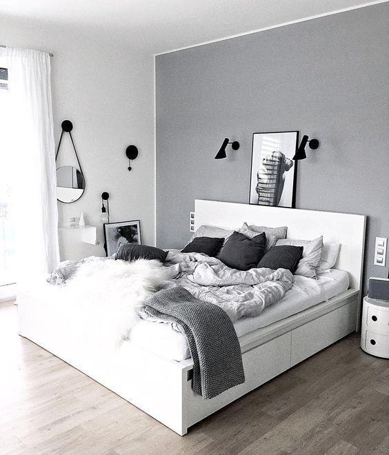 25 Schwarz-Weiß-Schlafzimmer Interior Design Trends für 2019 -  25 Schwarz-Weiß-Schlafzimmer Interior Design Trends für 2019 ,  #design #interior #schlafzimmer # - #boysbedroom #design #Für #interior #linenbedideas #minimalistbedroommen #SchwarzWeißSchlafzimmer #sofabeddiy #Trends