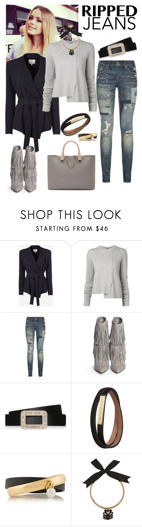 """""""DOH Style 'Style This Trend: Ripped Jeans II'"""" by dohinstyle ❤ liked on Polyvore featuring IRO, Proenza Schouler, Polo Ralph Lauren, Sam Edelman, Roger Vivier, Burberry, Inez & Vinoodh, Coast and Chloé"""