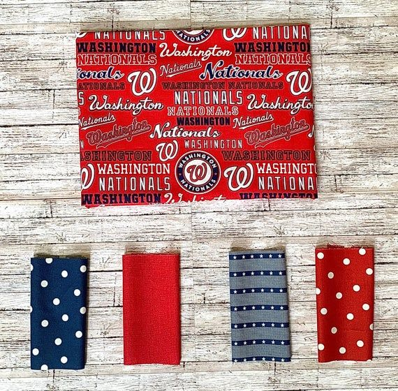 Photo of Washington Nationals Pattern Face Mask, Reusable Face Mask, 100% Cotton Face Mas…
