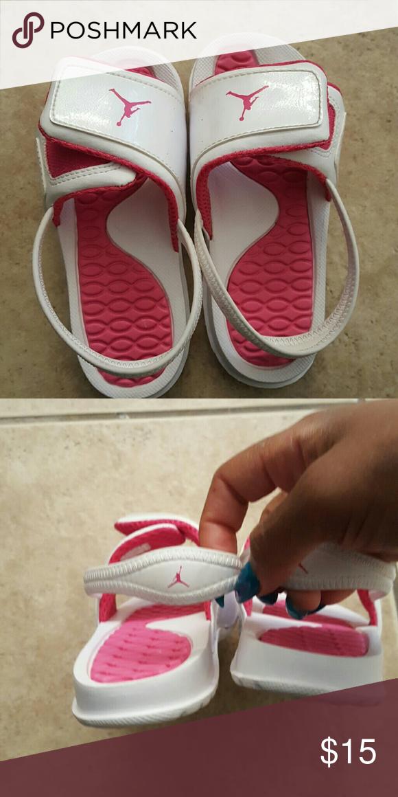 Toddler jordan girls size 10 sandals Mint condition worn once Jordan Shoes  Sandals & Flip Flops