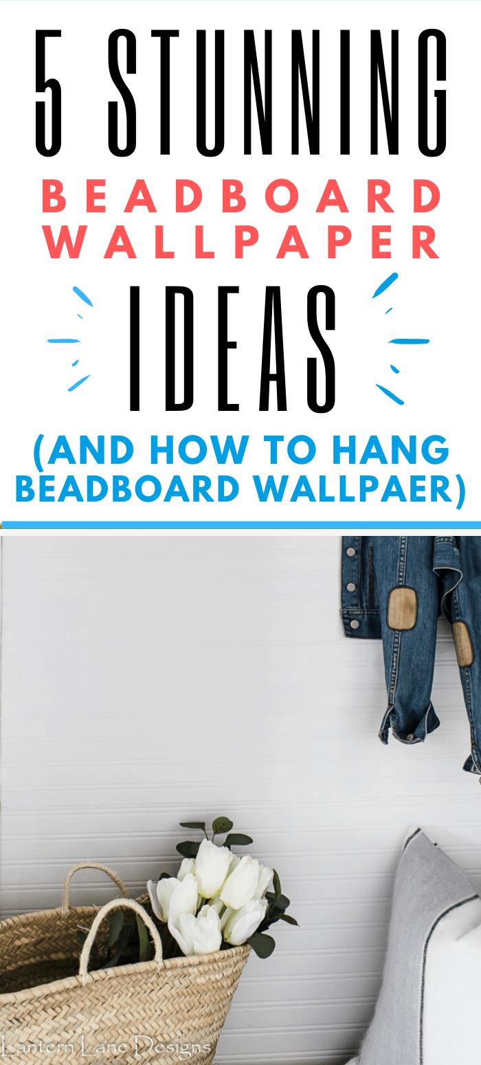 How To Hang Beadboard Wallpaper Horizontally Beadboard Wallpaper Farmhouse Style Lighting Fixtures Beadboard