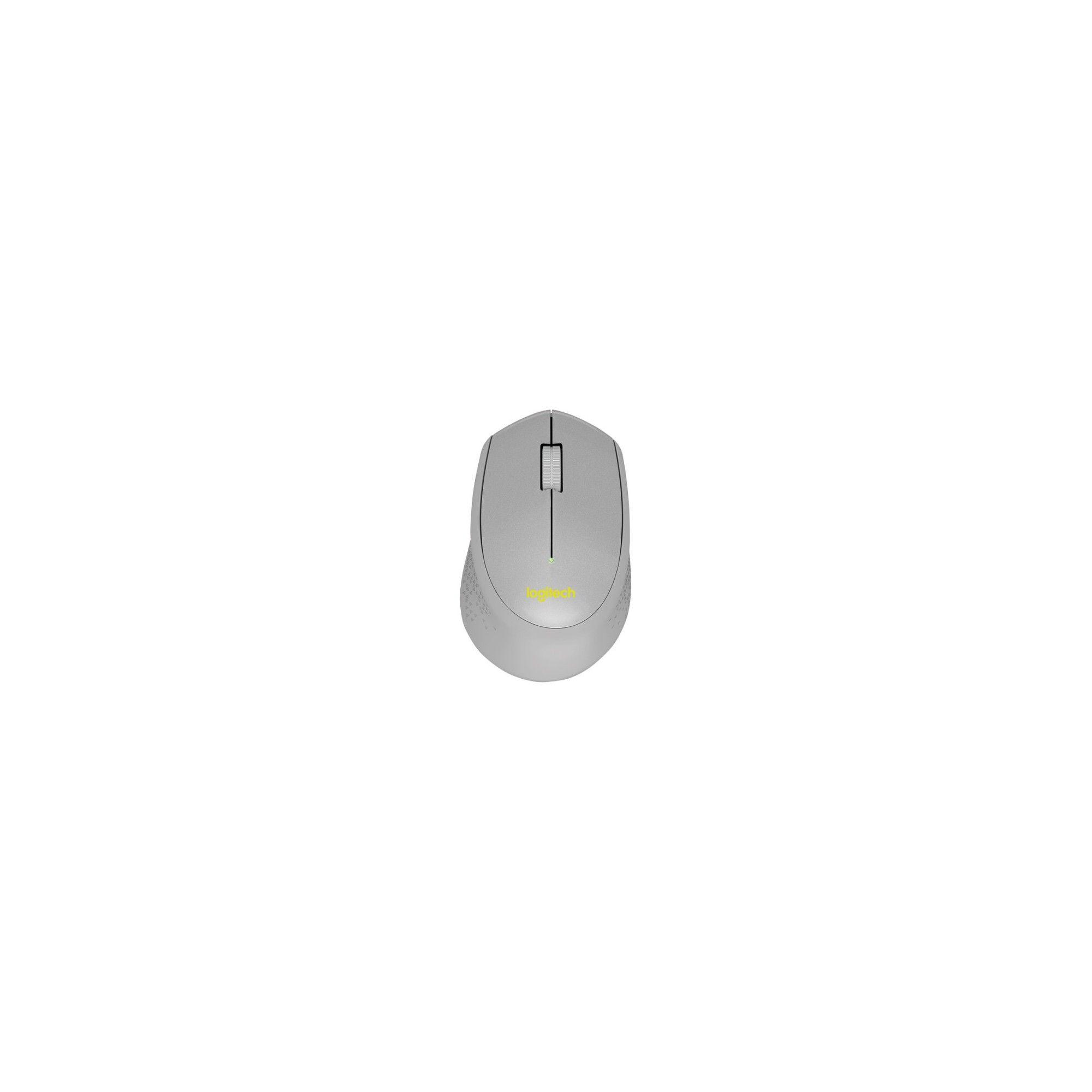 Logitech SILENT PLUS M330 Mouse - Mechanical - Cable - Gray